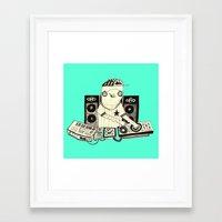 dj Framed Art Prints featuring DJ  by Mr. JJ