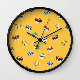 Halloween Pumpkin Robot Parfait Wall Clock