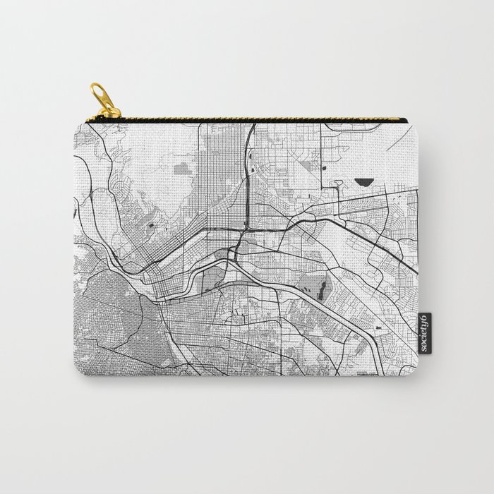 El Paso Map Gray Carry-All Pouch