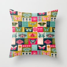 Lepidoptery tiles by Andrea Lauren  Throw Pillow