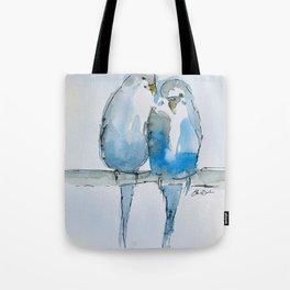 Parakeets Tote Bag
