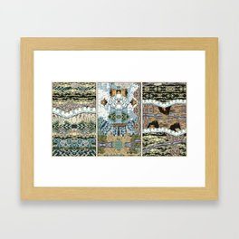Commotion below Framed Art Print