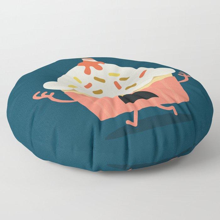 Cupcake on fire Floor Pillow