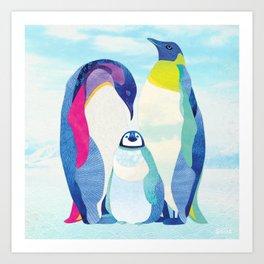 Shanti Sparrow: Peter, Wendy & Tink the Penguins Art Print