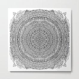 Mandala Dante Inferno Metal Print