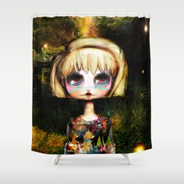 Goldilocks Grows up ~ Just right Shower Curtain