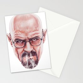 Walter White on Vapor by Cleofe Pacaña Stationery Cards