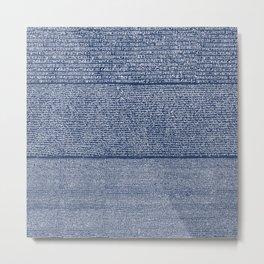 The Rosetta Stone // Navy Blue Metal Print