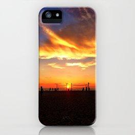 "Hermosa Beach ""Volleyball"" iPhone Case"