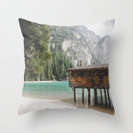Braies Lake #2 Throw Pillow