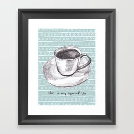My Special Tea Framed Art Print