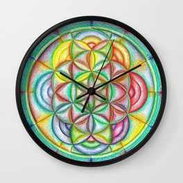 Clues in the Colors - The Rainbow Tribe Collection Wall Clock
