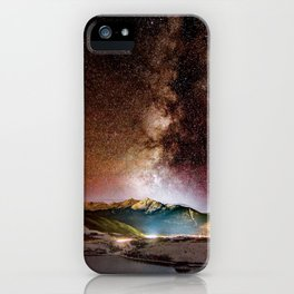 Milky Way Grainy Detail // Amazing Shot of the Galaxy in Colorado Long Exposure Star Gazing Photo iPhone Case