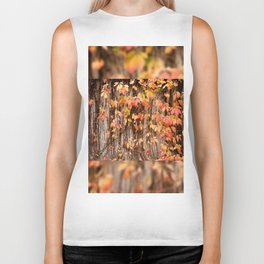 Vitaceae family ivy wall abstract Parthenocissus quinquefolia Biker Tank