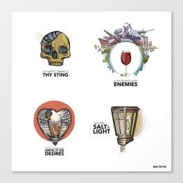 4 Biblical phrases Canvas Print