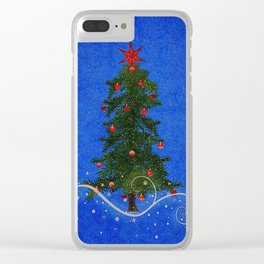 The Night of the little Christmas Tree Clear iPhone Case