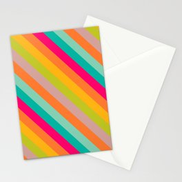 Stripes Colored Stationery Cards