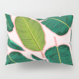 Banana Leaf Blush #society6 #decor #buyart Pillow Sham