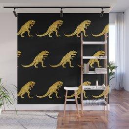 Golden T.Rex Pattern Wall Mural