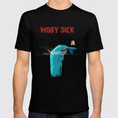 the WHALE MEDIUM Black Mens Fitted Tee