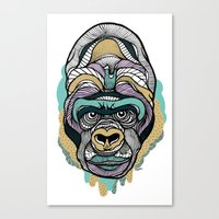 gorilla Canvas Prints featuring Gorilla by casiegraphics
