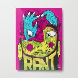 Reimagine Palahniuk - Rant Metal Print