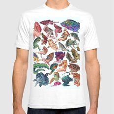 Reverse Mermaids 2X-LARGE White Mens Fitted Tee