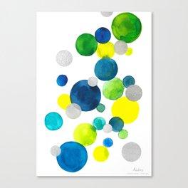 Flying bubbles/ bulles volantes Canvas Print