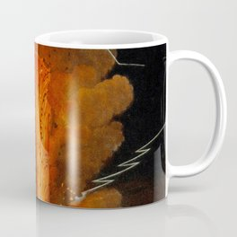Mount Vesuvius erupting at night, billowing clouds and flashes of lightning Coffee Mug