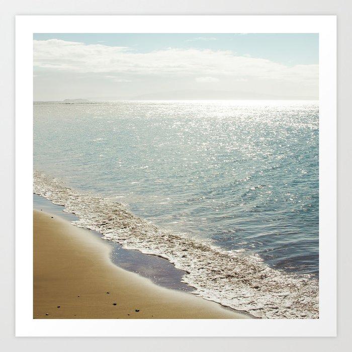 beauty and the beach Art Print