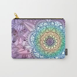 Purple Butterfly Mandala Carry-All Pouch