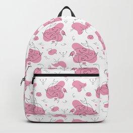 Pisces Single line Zodiac art Backpack