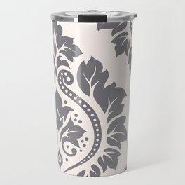Decorative Damask Art I Grey on Cream Travel Mug