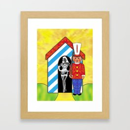 CHECKPOINT CHARLIE Framed Art Print