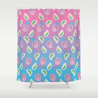 apollo Shower Curtains featuring Apollo Please by Jordan Hauser