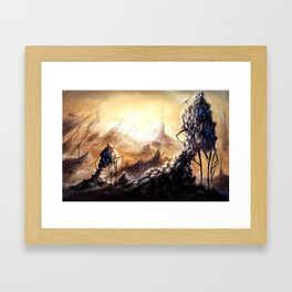 Dystopian Desert II Framed Art Print