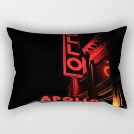 Harlem's Apollo Theater Portrait Painting Rectangular Pillow