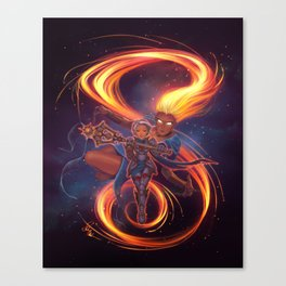Pike & Sarenrae Canvas Print