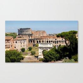 The Coliseum Rome Canvas Print