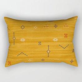 Cactus Silk In Gold Rectangular Pillow