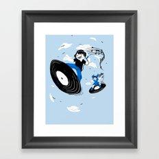Surfing the Beats Framed Art Print