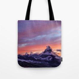 Himalayas Fishtail Mountain Sunset Tote Bag