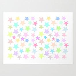Pastel Stars Design Art Print