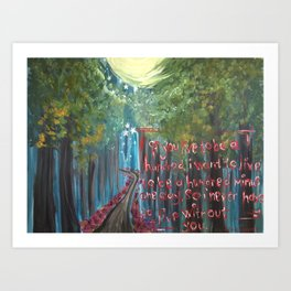 ethereal trail Art Print
