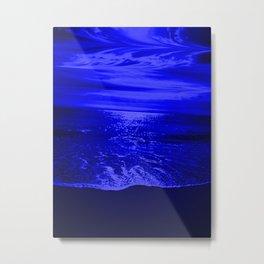 Bright Reflections Night Seascape Metal Print