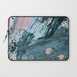 Wilmington: a colorful abstract acrylic piece in pinks and blues Laptop Sleeve