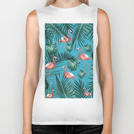 Tropical Flamingo Pattern #8 #tropical #decor #art #society6 Biker Tank
