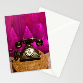Vintage, Elegant French Telephone Stationery Cards