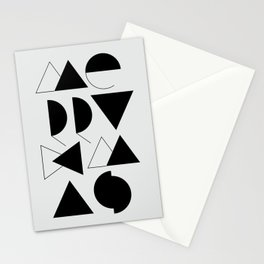Merry Xmas - Geometric Typo Stationery Cards