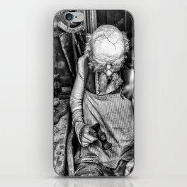 The Cobbler (Black & White) iPhone Skin